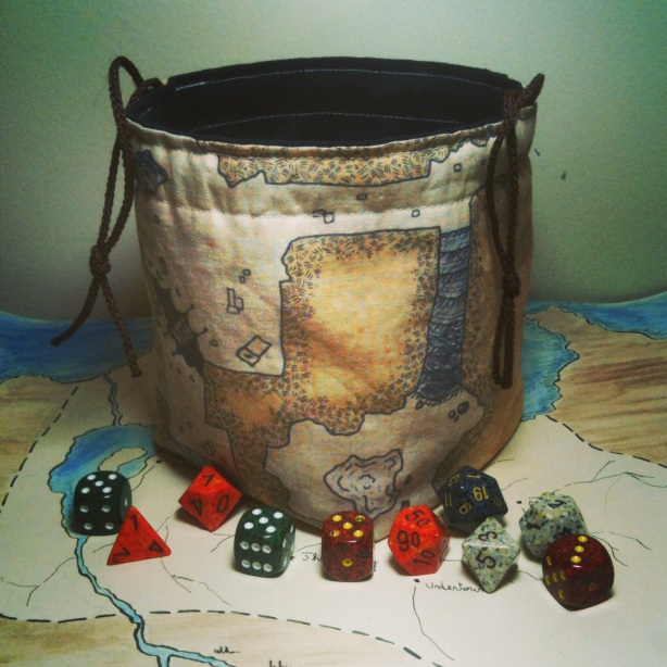 Classic Dungeon Map Dice Bag by Greyed Out
