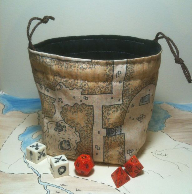 classic black dungeon 1 dice bag